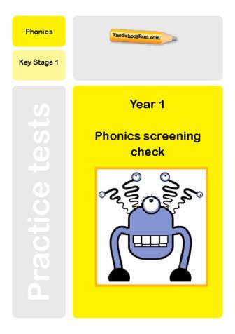 Phonics screening mock test 3