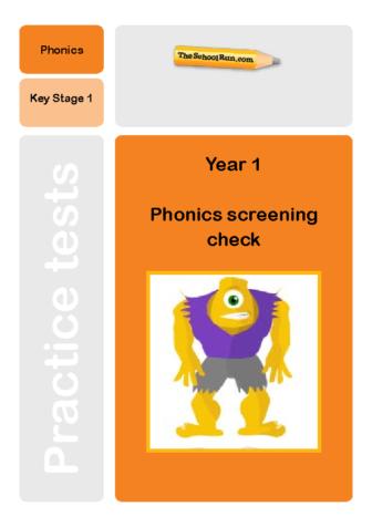 Phonics screening mock test 5