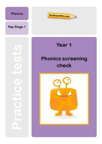 Phonics screening mock test 6