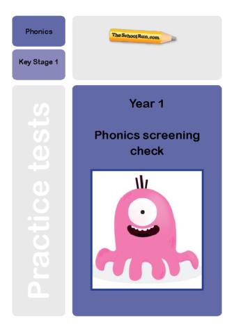 Phonics screening mock test 7