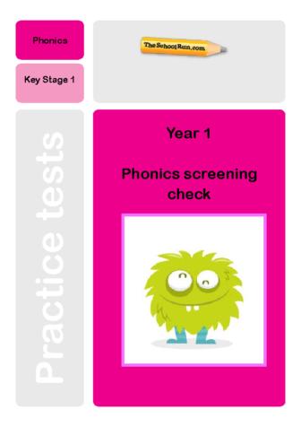 Phonics screening mock test 9