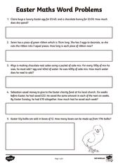 thumbnail of Easter Themed Maths Word Problems Activity Sheets