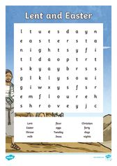 thumbnail of Lent And Easter Word Search